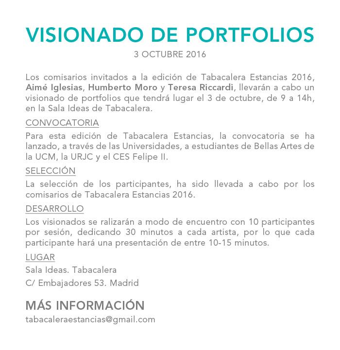 Visionado de portfolios